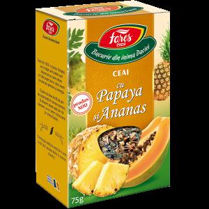 Ceai cu Papaya și Ananas, la pungă