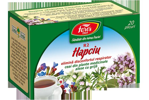 Hapciu Elimina disconfortul respirator, R2, ceai la plic (fost 'antiinflamator, antiinfectios')