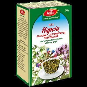 Hapciu - elimină disconfortul respirator, R31, ceai la pungă
