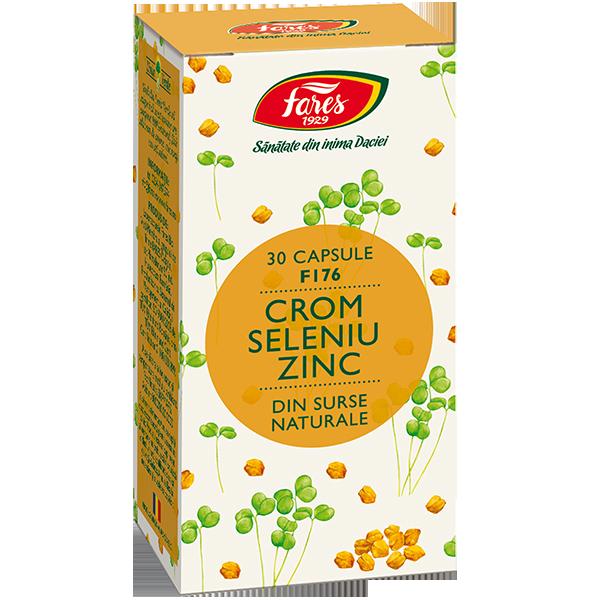 Crom Seleniu Zinc, F176, capsule