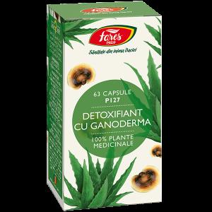 Detoxifiant cu ganoderma, P127, capsule vegetale