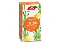 Acid Folic Natural, G71, capsule