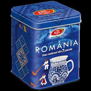 Ceai Suvenir România, albastru